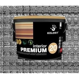 Краска Kolorit Interior Premium 20 база А 9 л