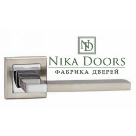 Дверна ручка MVM A-2008 SN/CP полірований хром