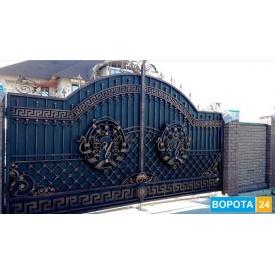 Въездные кованые ворота с индивидуальным дизайном 4000х2200 мм