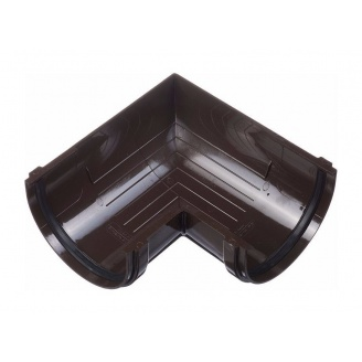Угол желоба Docke Standard 90 градусов шоколад