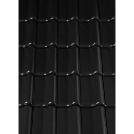 Керамическая черепица Creaton Titania 324х515 мм черная матовая ангоба