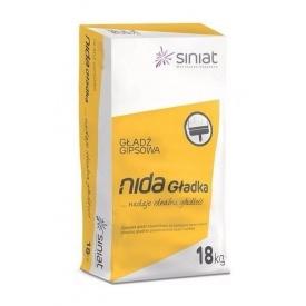Шпаклевка SINIAT NIDA Gladka гипсовая 18 кг белый