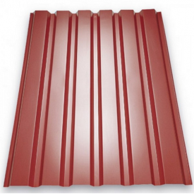 Профнастил ЕвроСтрой ПС-20 0,45 мм цинк/полимер (Украина) красный