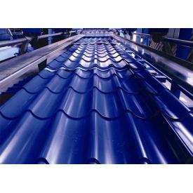Металлочерепица ЕвроСтрой 0,45 мм 1180х7000 мм (Словакия) синяя