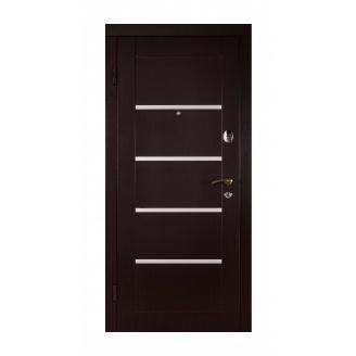 Дверь входная Двери Белоруссии Горизонталь 880x2040х70 мм венге