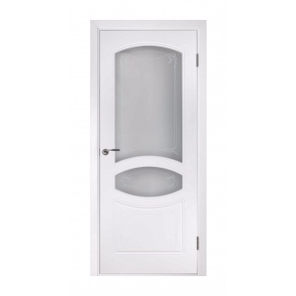 Дверь межкомнатная Двери Белоруссии Версаль ПО 600х2000 мм белая эмаль