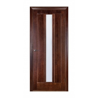 Дверь межкомнатная Двери Белоруссии Троя ПО 600x2000 мм темный орех