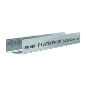 Профиль SINIAT PLATO Prof UW металлический 75х3000x0,55 мм