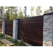 Забор из профнастила Альба Профиль ПС 7 0,40 мм 1170/1220 мм полиэстер венге (Китай)