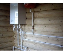 Монтаж настенного газового котла до 32 кВт