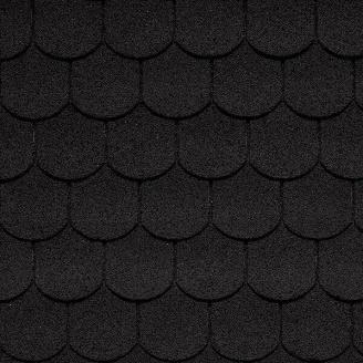 Битумная черепица IKO Victorian 336х1000 мм 01 Black