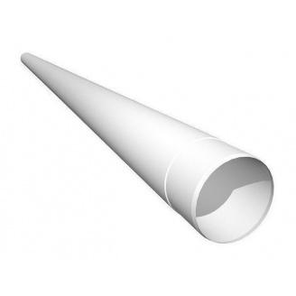 Труба водостічна Ruukki 90 мм 2,5 м білий