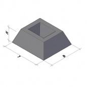 Фундамент панелі огорожі ФЗП 1-2 ТМ «Бетон від Ковальської»