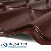 Металлочерепица ПК Индастри Industry 0,5x1250 мм 1195/1105 мм матовый полиэстер PEMA RAL 8017