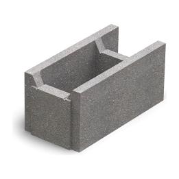 Блок малый бетонный несъемной опалубки Золотой Мандарин М-100 510х250х235 мм