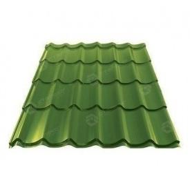 Металлочерепица Сталекс GRAND 0,45 мм PE Китай (Sutor Steel) (RAL6002/зеленый лист)