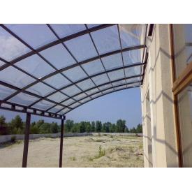 Полікарбонат монолітний 4мм 2,05*3,05 м (Європа) прозорий