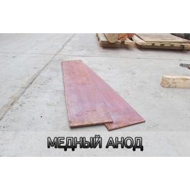 Мідні аноди 10х200х800 мм М1 ГОСТ 859-2001
