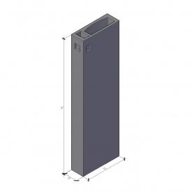 Вентиляционный блок ВБ 3-30-0 ТМ «Бетон от Ковальской» 910х300х2980 мм