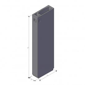 Вентиляционный блок ВБ 3-28-1 ТМ «Бетон от Ковальской» 910х300х2780 мм