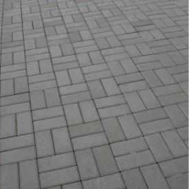 Тротуарна плитка Золотий Мандарин Цегла стандартна 200х100х60 мм сірий