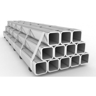 Труба профильная алюминиевая 40х20х2 мм