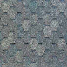 Бітумно-полімерна черепиця Tegola Nobil Tile Вест 1000х337 мм темно-сірий