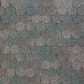 Бітумно-полімерна черепиця Tegola Nobil Tile Верона 1000х340 мм темно-сірий