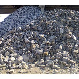 Бутовый камень строительный насыпом