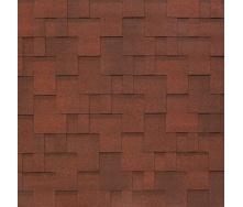 Битумно-полимерная черепица Tegola Nobil Tile Акцент 1000х337 мм темно-красный