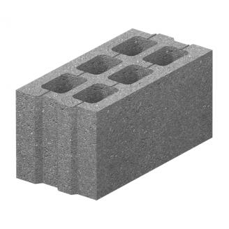 Блок бетонный Золотой Мандарин М-75 40.20.20 390х190х190 мм