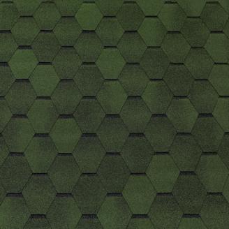 Битумная черепица Tegola Top Shingle Smalto 3 м2 зеленый