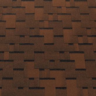 Битумная черепица Tegola Top Shingle Futuro 3 м2 коричневый
