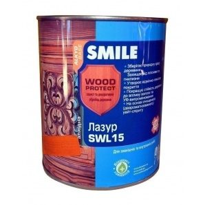 Лазурь SMILE SWL-15 WOOD PROTECT 0,75 л черное дерево