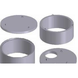 Бетонные кольца колодца КС 10.6 100х60 см