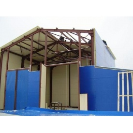 Монтаж здания из сэндвич панелей