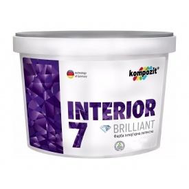 Краска интерьерная латексная Kompozit INTERIOR 7 матовая 1,4 л белый