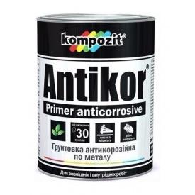 Грунтовка для металу антикорозійна Kompozit ANTIKOR матова 15 кг світло-сірий