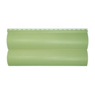 Сайдинг вініловий Альта-Профіль BlockHouse Slim двухпереломний 3660х230х11 мм оливковий