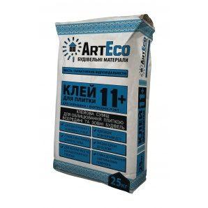 Клей для плитки ArtEco 11+ 25 кг сірий