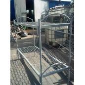 Кровать металлическая двухъярусная 1900х700 мм