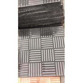Плитка тротуарная Alex Group шашка 300x300x30 мм черная