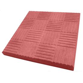 Плитка тротуарная Alex Group шашка 300х300х30 мм красная
