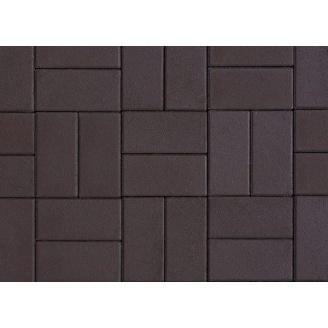 Плитка тротуарная Alex Group гладкая 400х400х50 мм коричневая