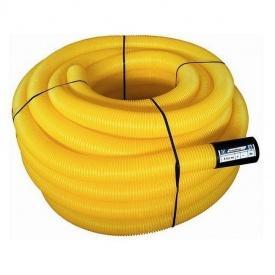 Труба для системы дренажа E2-T однослойная 110 мм 50 м желтая
