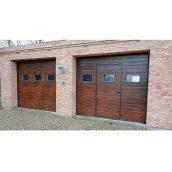 Ворота автоматичні гаражні Алютех Тренд 2500x2000 мм коричневі