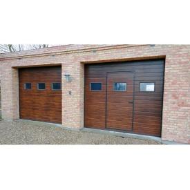 Ворота гаражные автоматические Алютех Тренд 2500x2000 мм коричневые