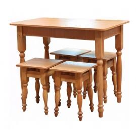 Стол кухонный Мебель-Сервис нераскладной 1000х600х745 мм ольха