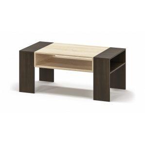 Стол журнальный Мебель-Сервис Престиж 500х1160х590 мм венге темный/дуб самоа
