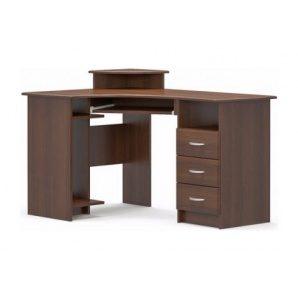 Письмовий стіл Мебель-Сервіс кутовий МДФ 750х1300х900 мм горіх